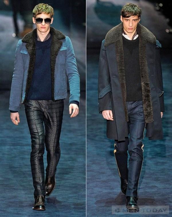 Áo cổ lông ấm áp cho các chàng trai đón mùa đông