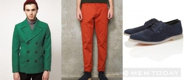 Cách kết hợp màu sắc cho trang phục nam
