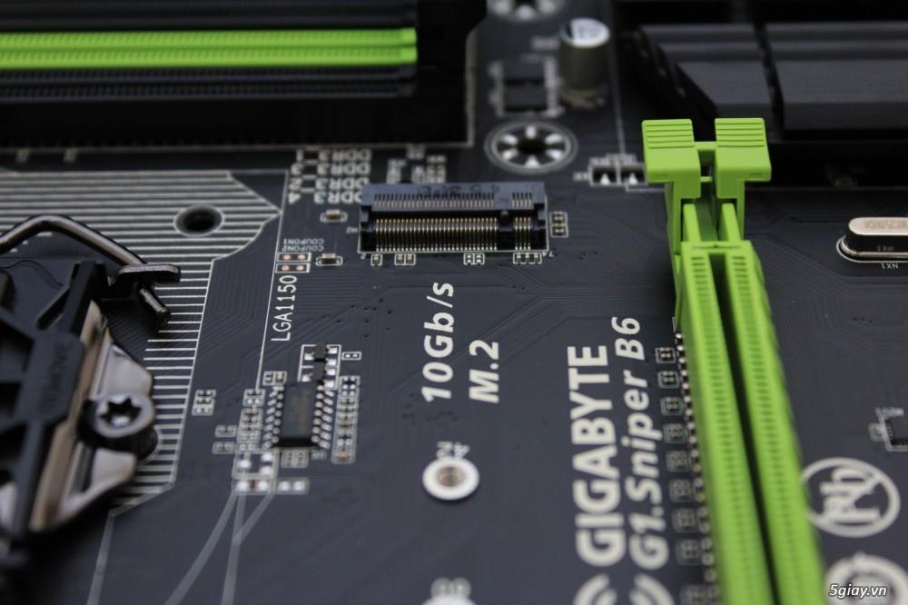 Mở hộp bo mạch chủ gigabyte g1 sniper b6 tiếp nối thành công - 6