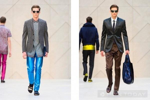 Xu hướng thời trang nam Xuân Hè 2013 – Trang phục màu kim loại