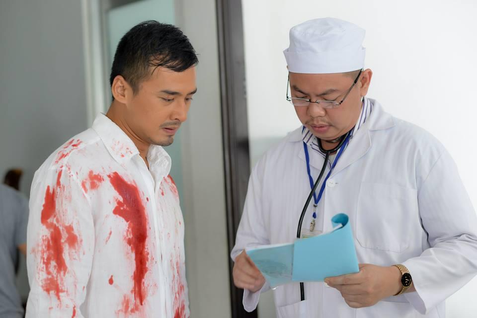 Vì phim mới hoài lâm phải bị đánh phải băng đầu nhập viện - 11