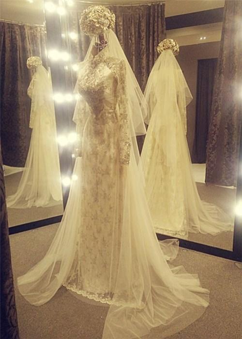 Các bộ váy cưới trị giá gần 600 triệu của thúy diễm có gì - 10
