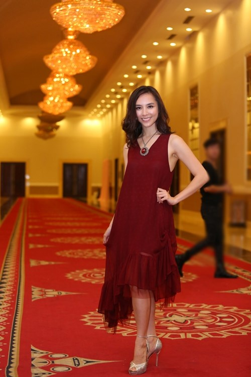 Mĩ nhân việt đọ sắc với váy áo màu đỏ rượu sang trọng tinh tế - 11
