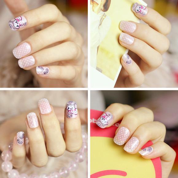 Top 15 mẫu móng tay nail hoạt hình đẹp dễ thương cho bạn gái 2017 - 1