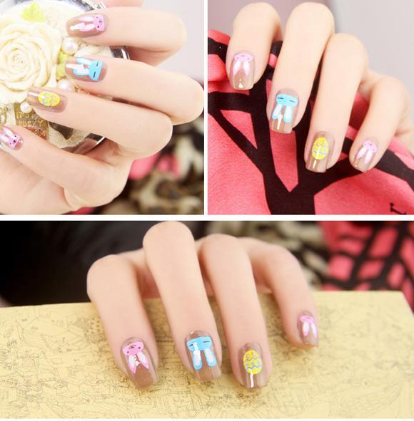 Top 15 mẫu móng tay nail hoạt hình đẹp dễ thương cho bạn gái 2017 - 5