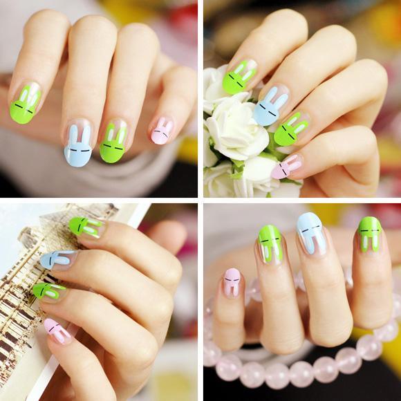 Top 15 mẫu móng tay nail hoạt hình đẹp dễ thương cho bạn gái 2017 - 6