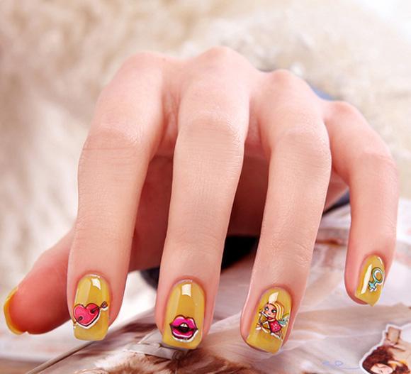 Top 15 mẫu móng tay nail hoạt hình đẹp dễ thương cho bạn gái 2017 - 8