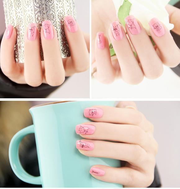 Top 15 mẫu móng tay nail hoạt hình đẹp dễ thương cho bạn gái 2017 - 9