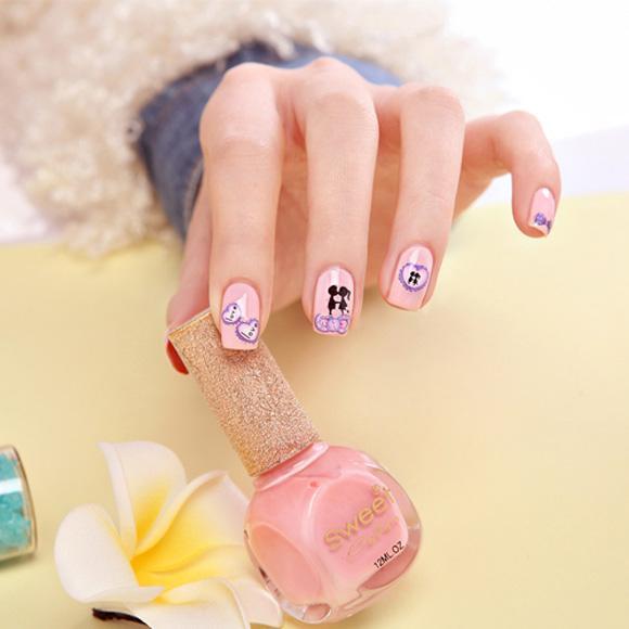 Top 15 mẫu móng tay nail hoạt hình đẹp dễ thương cho bạn gái 2017 - 10