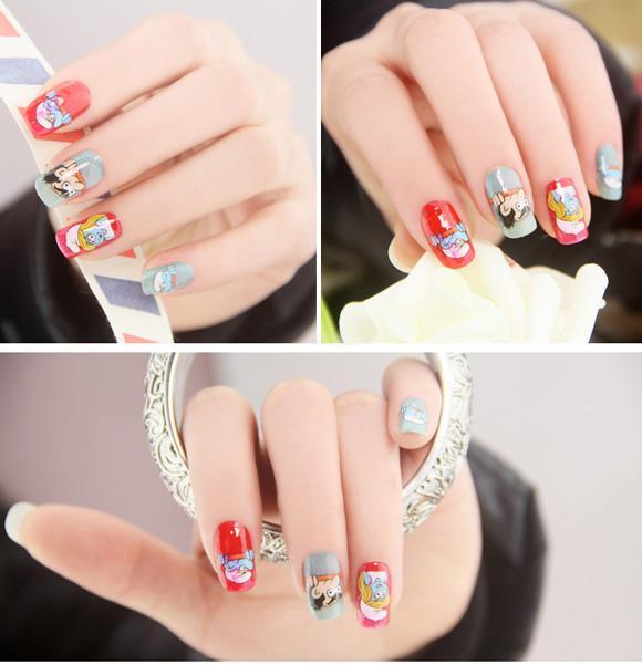 Top 15 mẫu móng tay nail hoạt hình đẹp dễ thương cho bạn gái 2017 - 11