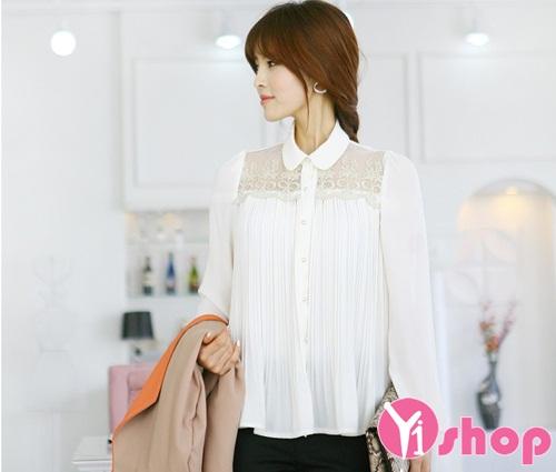 3 kiểu áo sơ mi nữ trắng hàn quốc đẹp hè 2016 cho nàng tinh tế nơi công sở - 3