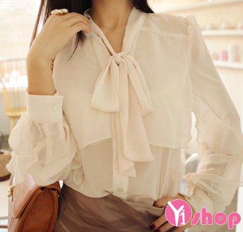 3 kiểu áo sơ mi nữ trắng hàn quốc đẹp hè 2016 cho nàng tinh tế nơi công sở - 10