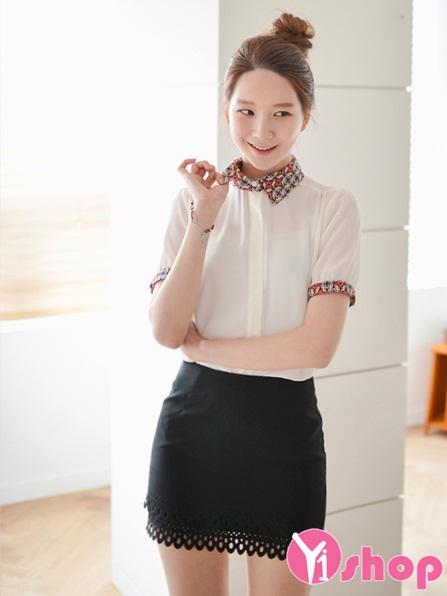 3 kiểu áo sơ mi nữ trắng hàn quốc đẹp hè 2016 cho nàng tinh tế nơi công sở - 12