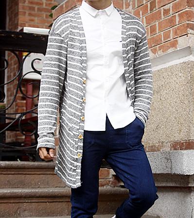Mẫu áo khoác cardigan len nam dáng dài kiểu hàn quốc đẹp cá tính đông 2016 2017 - 12