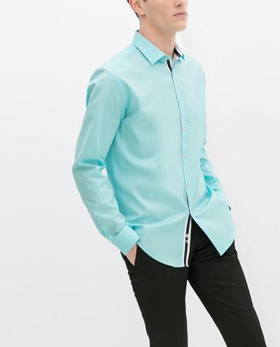 Áo sơ mi nam màu xanh đẹp hè 2017 cho chàng trai công sở mát mẻ - 2