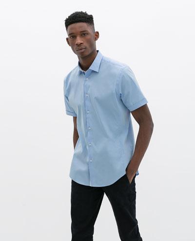 Áo sơ mi nam màu xanh đẹp hè 2017 cho chàng trai công sở mát mẻ - 3