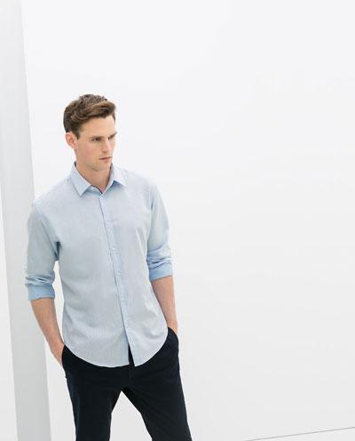 Áo sơ mi nam màu xanh đẹp hè 2017 cho chàng trai công sở mát mẻ - 5