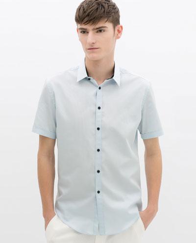 Áo sơ mi nam màu xanh đẹp hè 2017 cho chàng trai công sở mát mẻ - 9