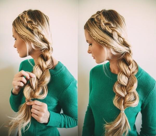 3 cách tết mái tóc phồng tự nhiện đẹp cô nàng tóc mỏng hè 2017 - 16