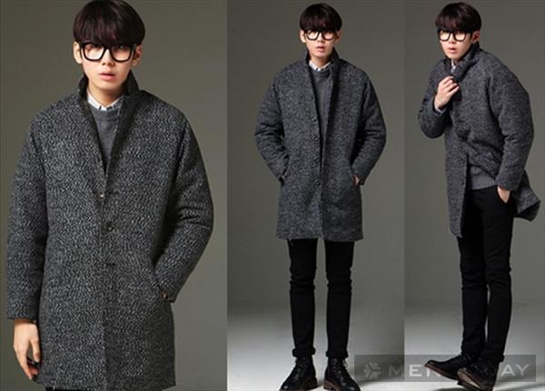Mẫu áo khoác cardigan len nam dáng dài kiểu hàn quốc đẹp cá tính đông 2016 2017 - 1