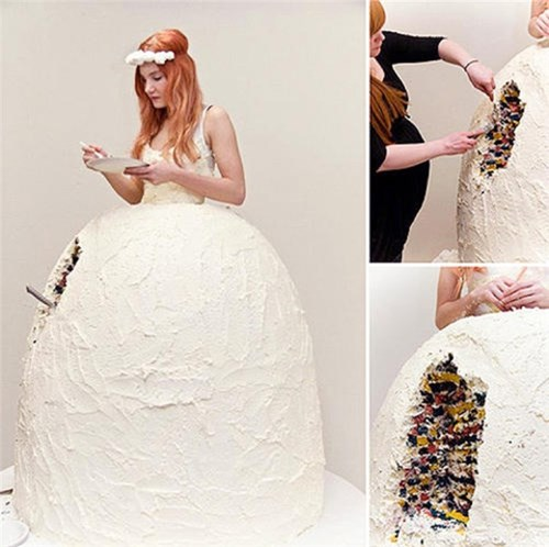 Những chiếc váy cưới điên rồ ai cũng lắc đầu ngán ngẩm - 1