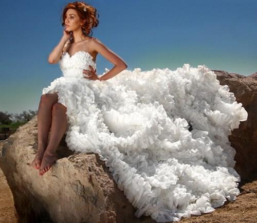 Những chiếc váy cưới điên rồ ai cũng lắc đầu ngán ngẩm - 12