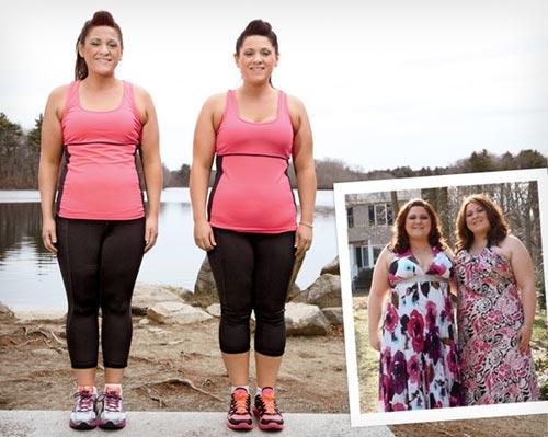 Chị em sinh đôi 28 tuổi giảm 40kg gây xôn xao - 1