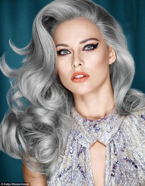 Dưới 30 tuổi bạn có dám nhuộm tóc bạc - 3