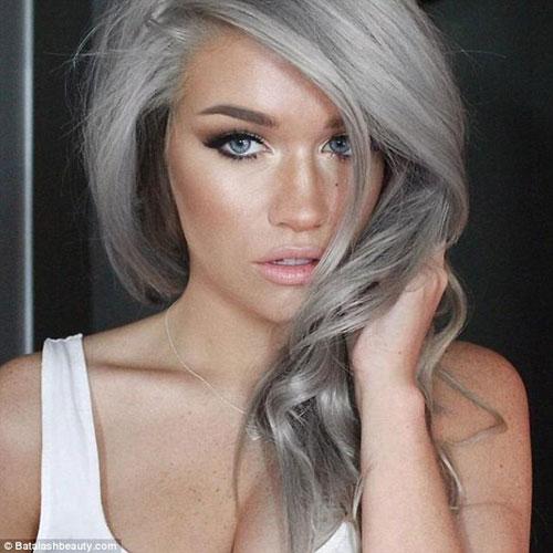 Dưới 30 tuổi bạn có dám nhuộm tóc bạc - 4