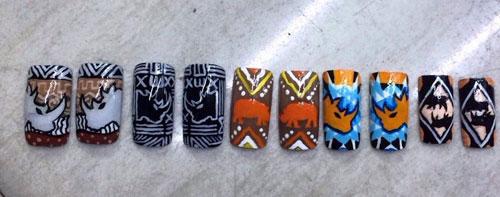 Hồng ánh vẽ nail để cứu tê giác - 2