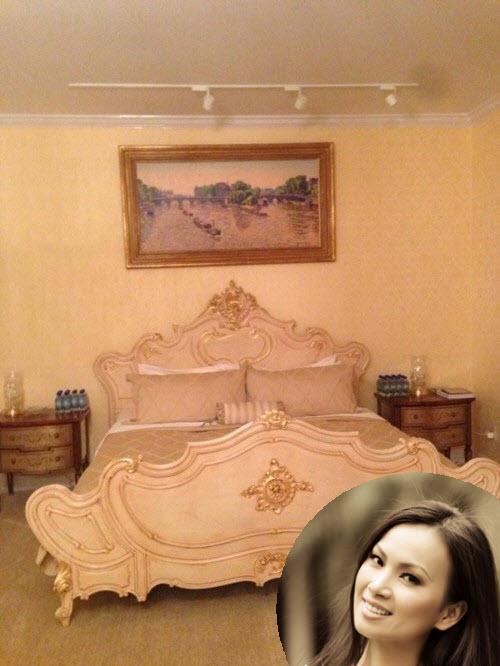 Phòng ngủ hoàng gia cổ điển đắt giá của sao nữ - 3