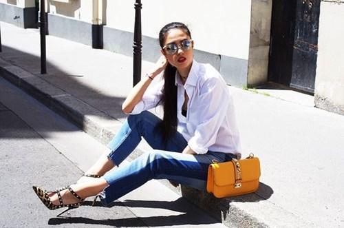 Quần jeans 2 màu xu hướng mới cực chất trong mùa hè - 2