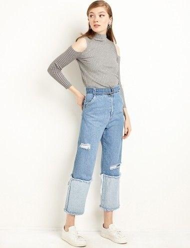 Quần jeans 2 màu xu hướng mới cực chất trong mùa hè - 3