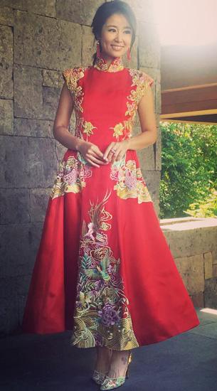 váy phụ kiện hàng hiệu của lâm tâm như trong đám cưới - 6
