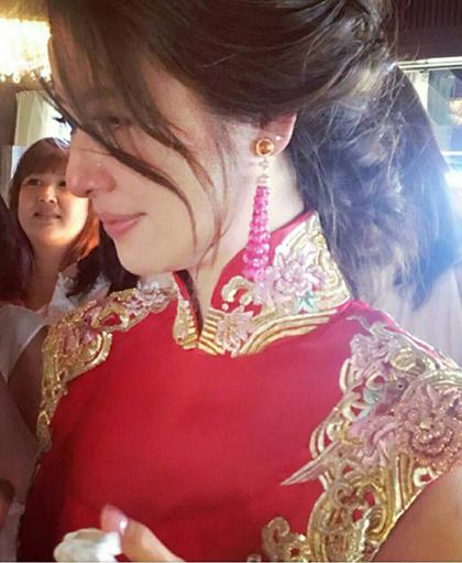 Váy phụ kiện hàng hiệu của lâm tâm như trong đám cưới - 9