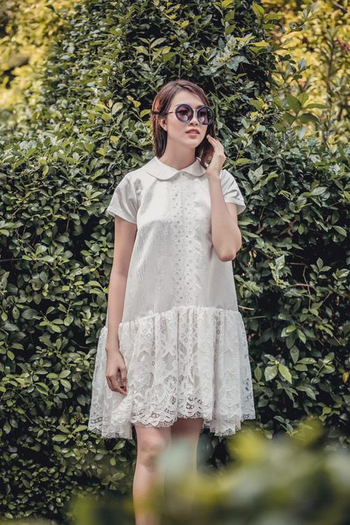 Á hậu lệ hằng gợi ý cách chọn váy suông đẹp và tiện ích - 4