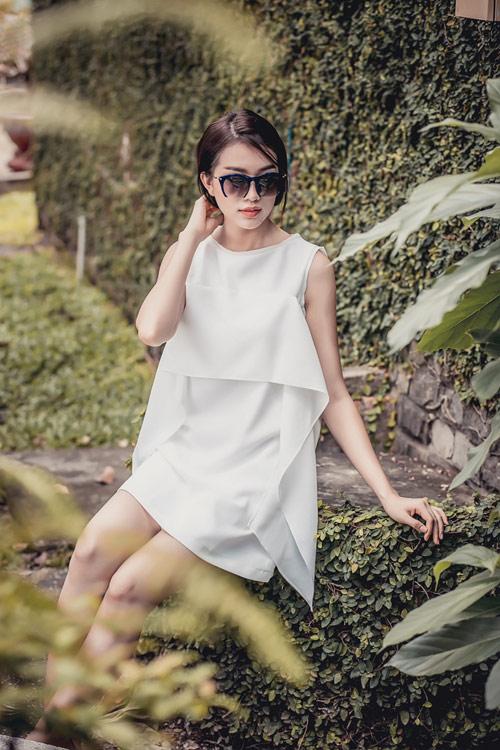 Á hậu lệ hằng gợi ý cách chọn váy suông đẹp và tiện ích - 5