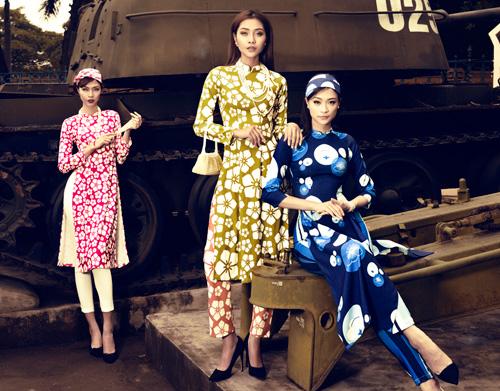 Áo dài cá tính lấy cảm hứng từ thập niên 50 - 6