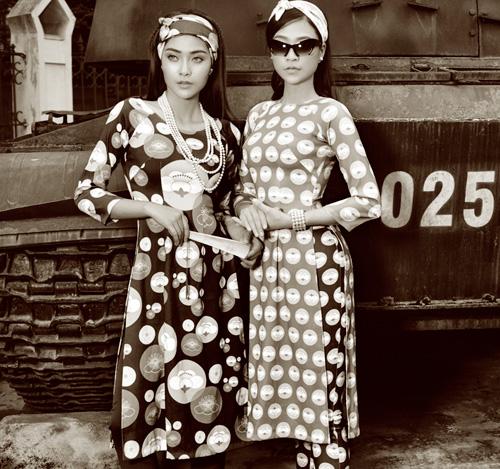 Áo dài cá tính lấy cảm hứng từ thập niên 50 - 11