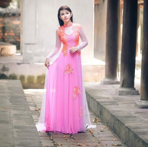 Áo dài hồng cho cô dâu ngọt ngào ngày vu quy - 7
