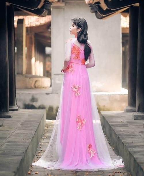 Áo dài hồng cho cô dâu ngọt ngào ngày vu quy - 8
