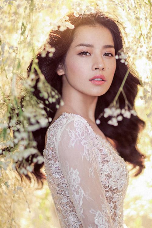 Chi pu làm cô dâu thiên thần với váy cưới ren trắng - 8