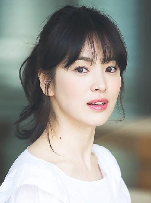 Để tóc mái thưa đẹp như song hye kyo - 2