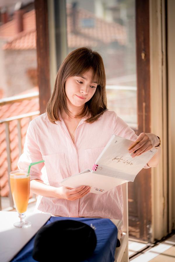 Để tóc mái thưa đẹp như song hye kyo - 6