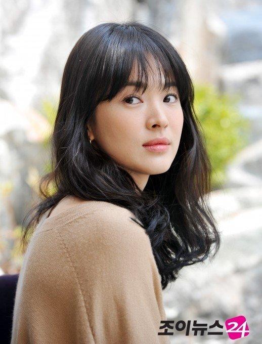Để tóc mái thưa đẹp như song hye kyo - 10