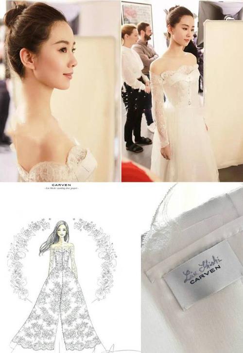 Lưu thi thi mặc váy cưới 11 tỷ đồng gây choáng váng - 5