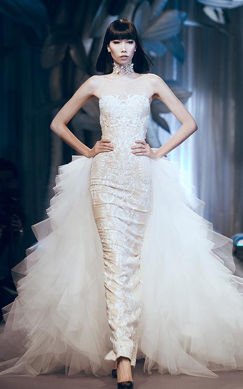 Minh tú lộng lẫy với váy cưới đính 10 ngàn viên đá swarosky - 8