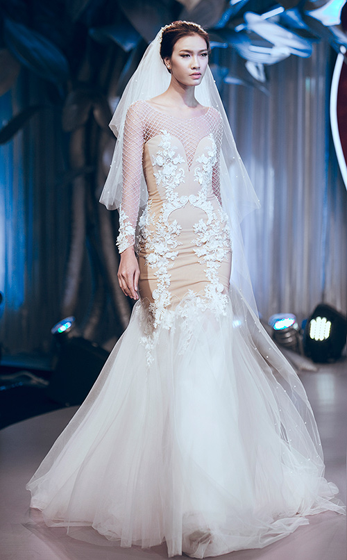 Minh tú lộng lẫy với váy cưới đính 10 ngàn viên đá swarosky - 9