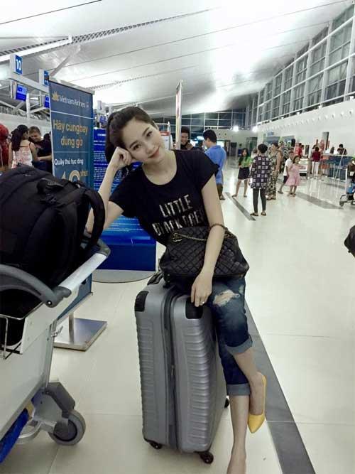 Thời trang sân bay điệu đà của hoa hậu á hậu việt - 7