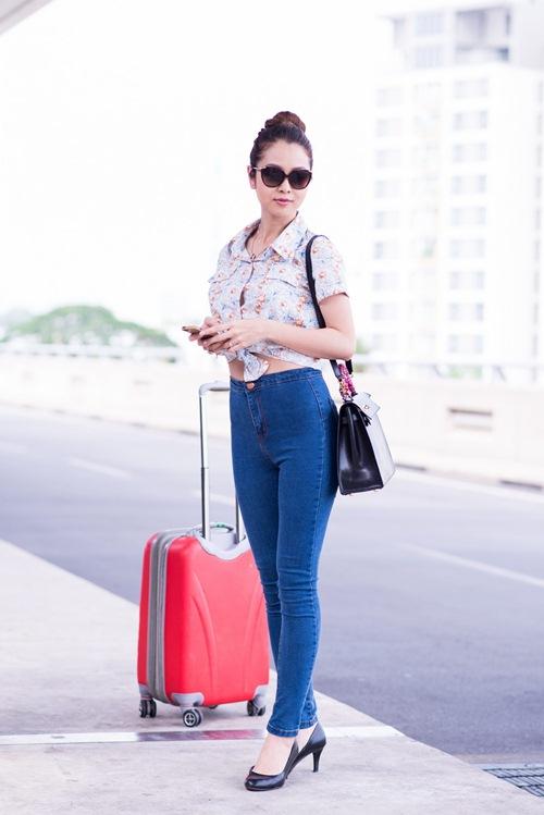 Thời trang sân bay điệu đà của hoa hậu á hậu việt - 11